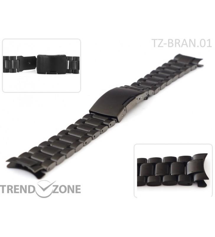 Stalowa bransoleta do zegarka 18-24 mm TZ-BRAN.01C z okrągłą końcówką