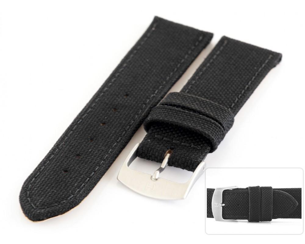 Pasek skórzano-parciany do zegarka 18 mm HORIDO 165.01