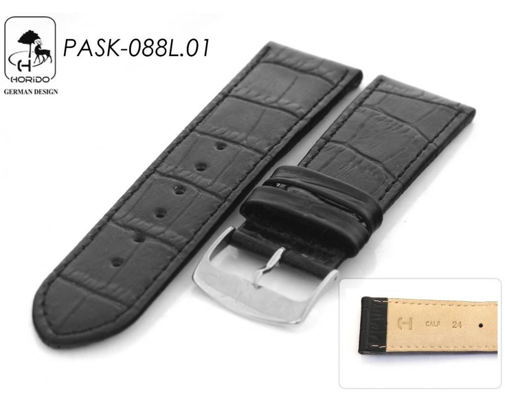 Skórzany pasek do zegarka aligator 18 mm HORIDO 088L
