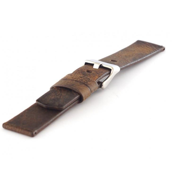 Pasek do zegarka skórzany 22-24 mm Tekla T-044.02 gruby