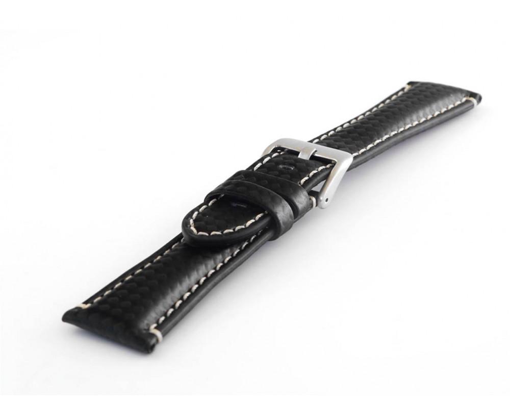Pasek carbonowy do zegarka 20-24 mm HORIDO 0167.01