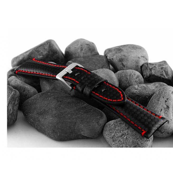 Pasek carbonowy do zegarka 20-24 mm HORIDO 0167.01R