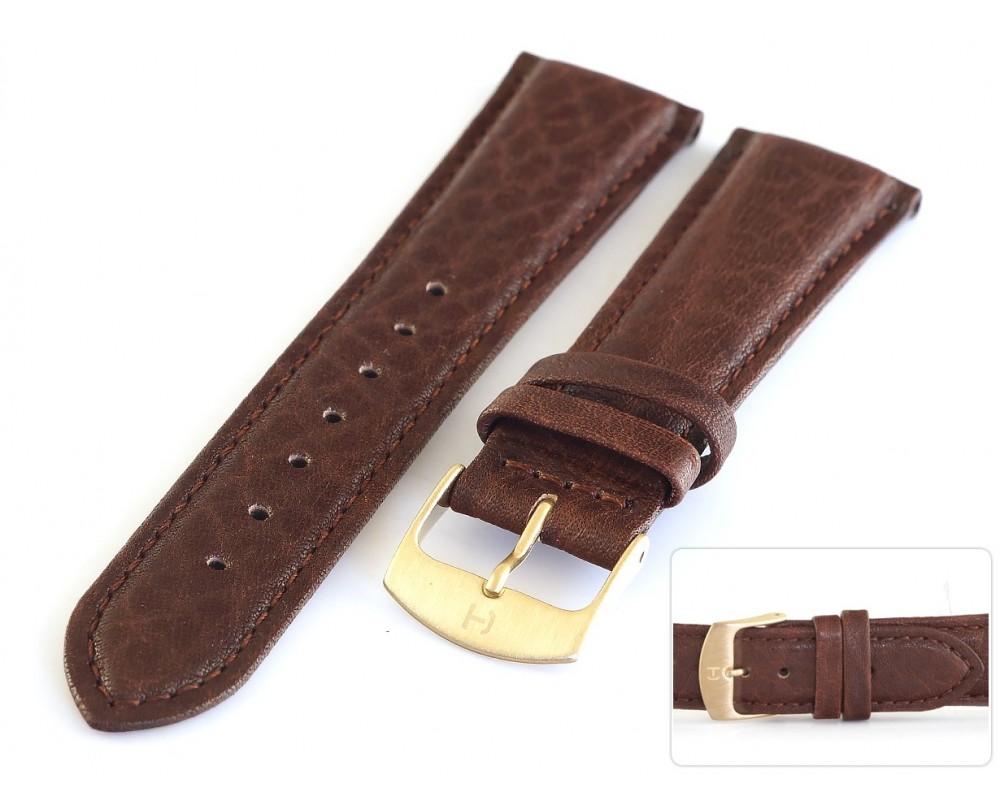 Pasek skórzany do zegarka wielbłąd 20-22 mm HORIDO 018.02